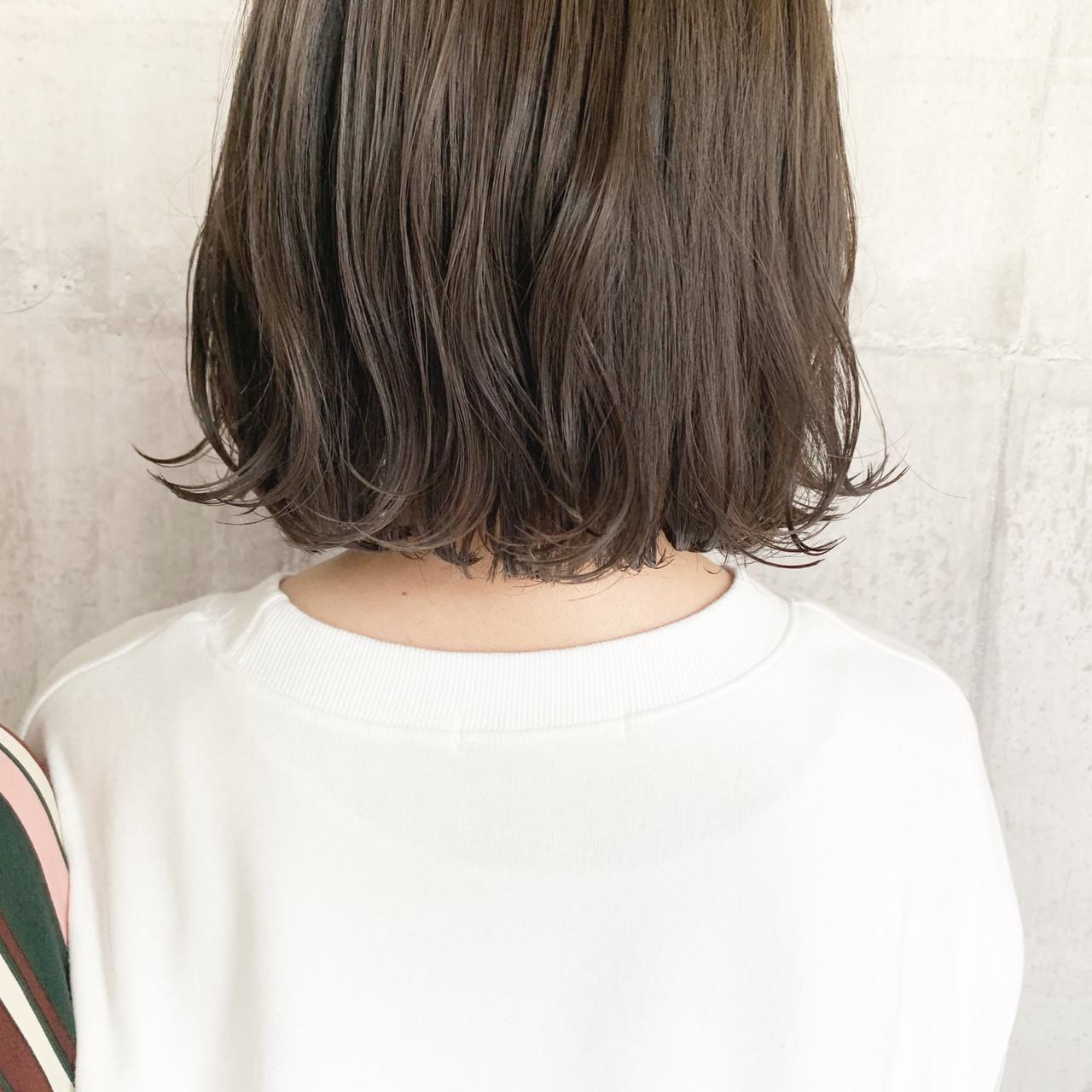 外国人風カラー ボブ ダブルカラー オリーブベージュ ヘアスタイルや髪型の写真・画像 | 中村明俊 / HAVANA 天神