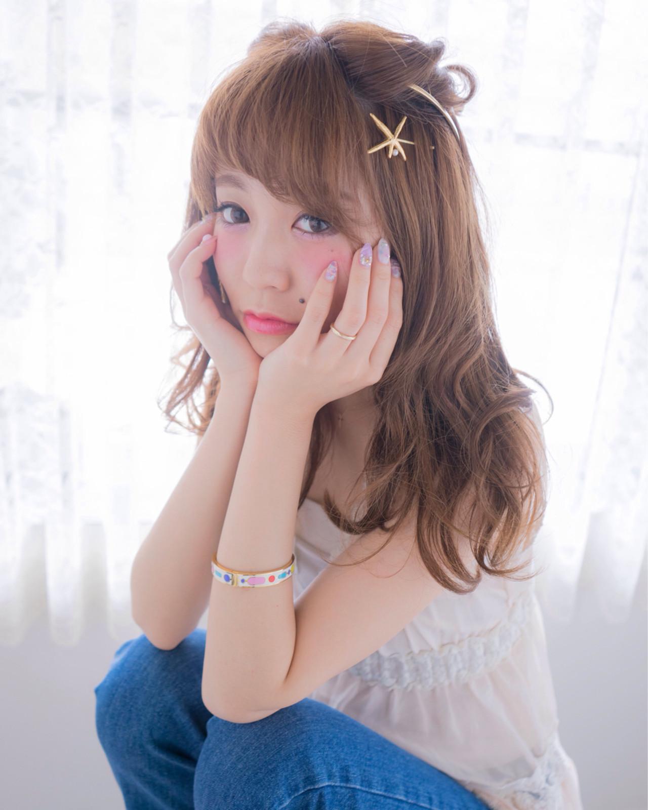ゆるふわ ショート セミロング ヘアアレンジ ヘアスタイルや髪型の写真・画像 | 村松彩 / ojiko.