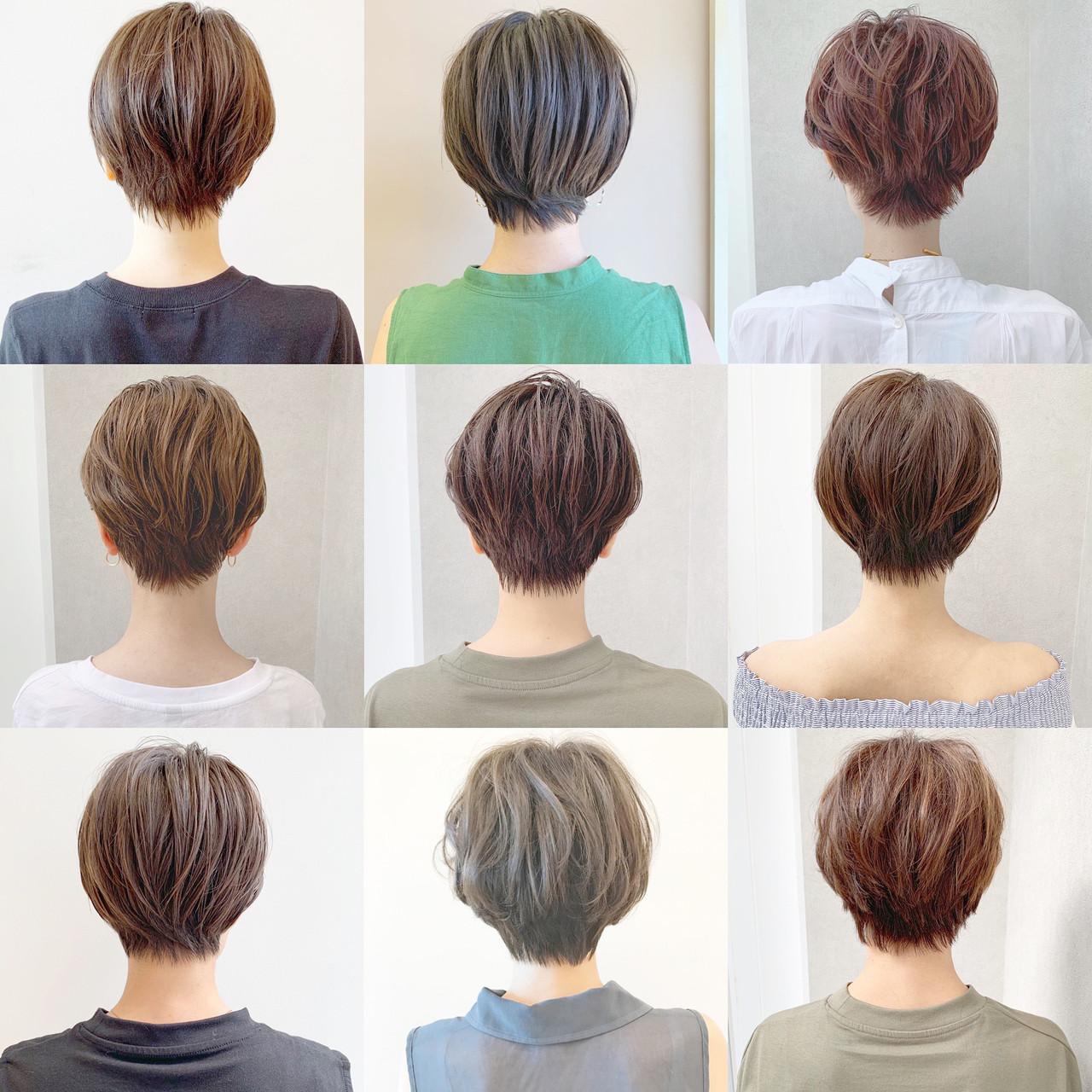 オフィス アウトドア パーマ ナチュラル ヘアスタイルや髪型の写真・画像 | ショートヘア美容師 #ナカイヒロキ / 『send by HAIR』