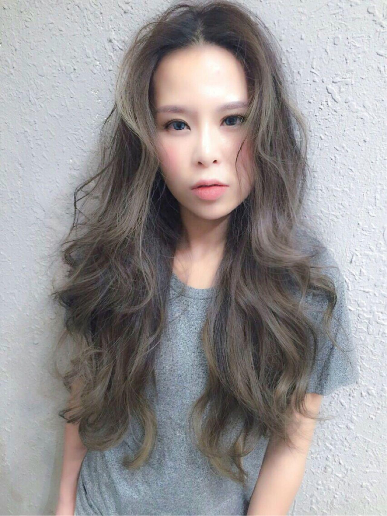 ショート 暗髪 ロング ストリートヘアスタイルや髪型の写真・画像