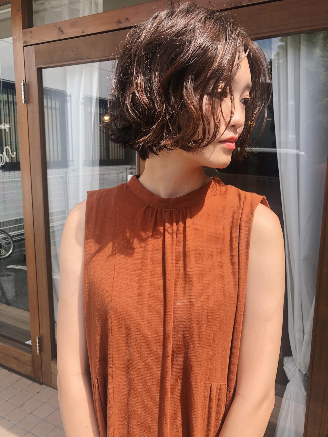 ハンサムショート ナチュラル ショート 大人かわいい ヘアスタイルや髪型の写真・画像 | 原木翔太 / lufun hair design  ルファン