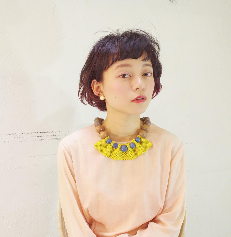 ショート 色気 フェミニン ボブ ヘアスタイルや髪型の写真・画像   大谷江梨加 / blast