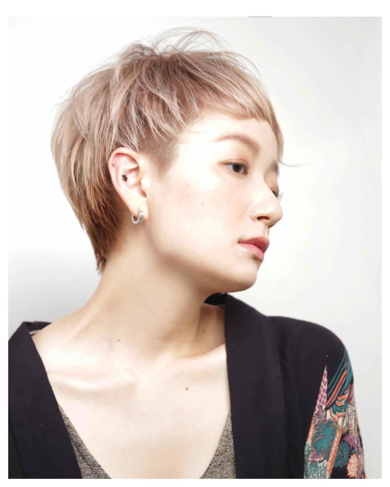 かっこいい ショートヘア レイヤーカット ショートヘアスタイルや髪型の写真・画像