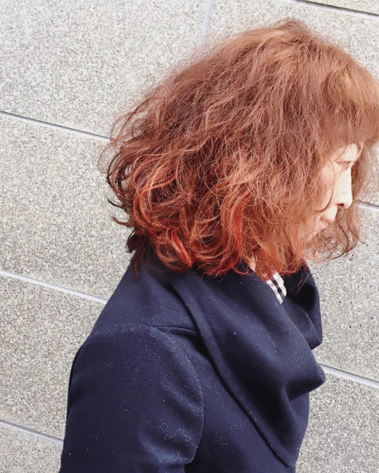 ボブ ゆるふわ ブリーチ ストリートヘアスタイルや髪型の写真・画像