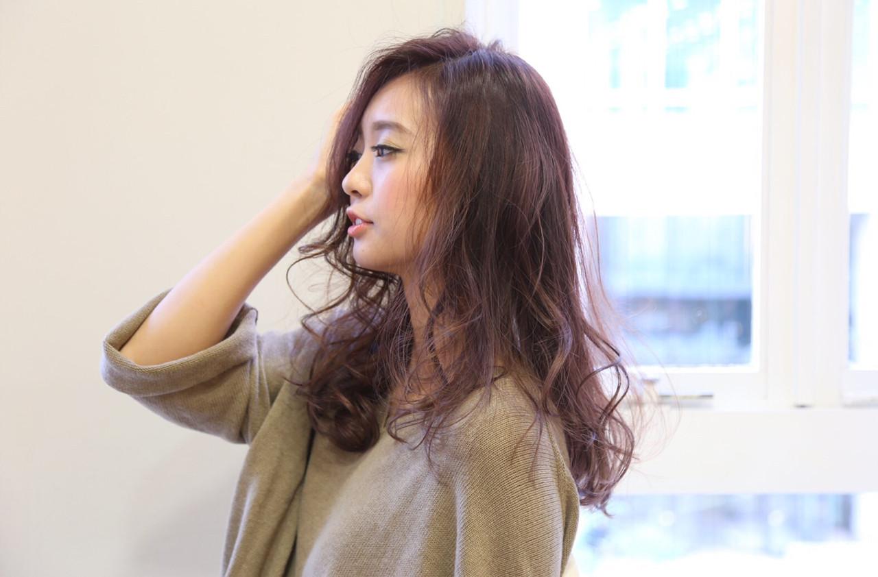 抜け感 ゆるふわ セミロング 大人女子 ヘアスタイルや髪型の写真・画像 | 藤田真奈 /