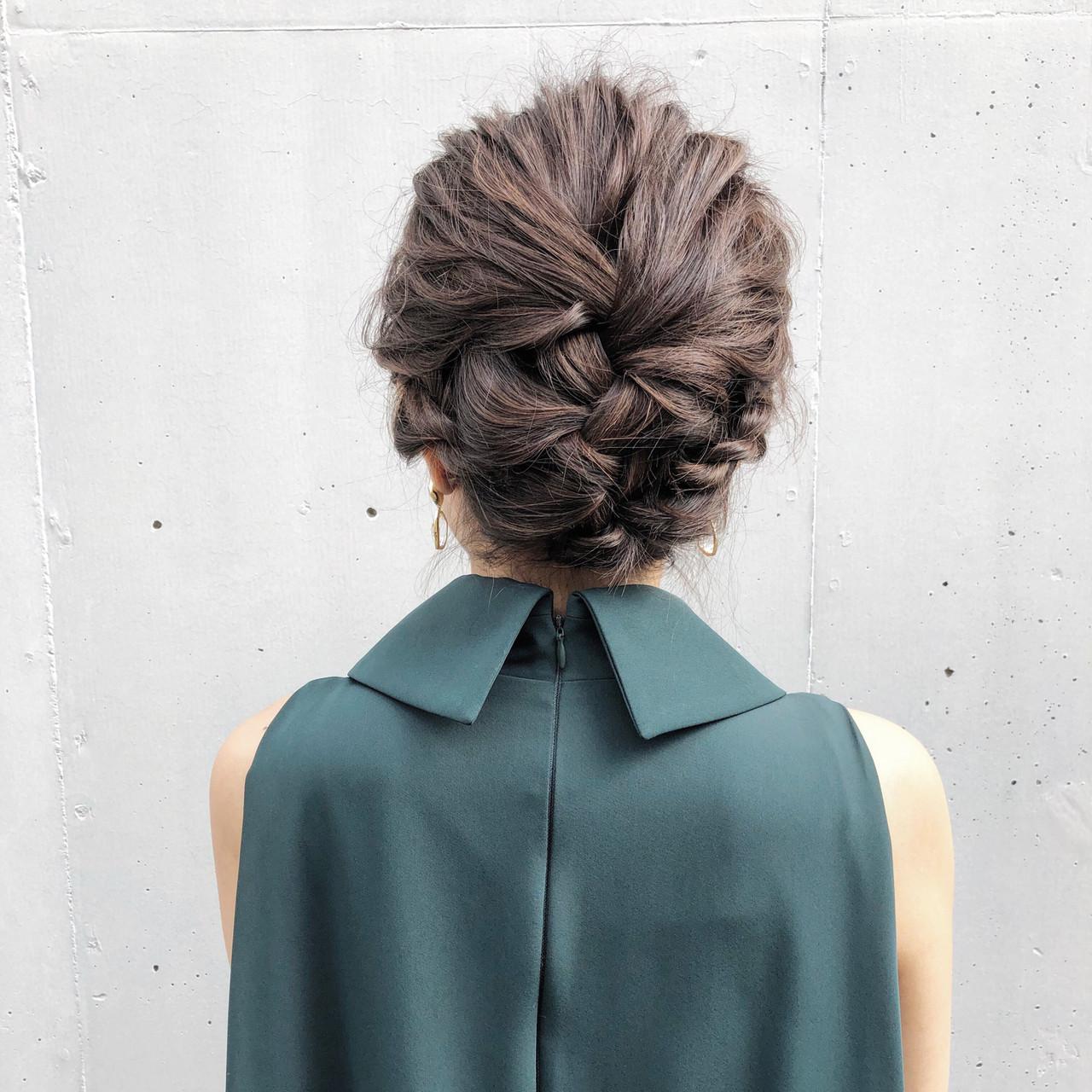 アンニュイほつれヘア ミディアム 結婚式 ナチュラルヘアスタイルや髪型の写真・画像