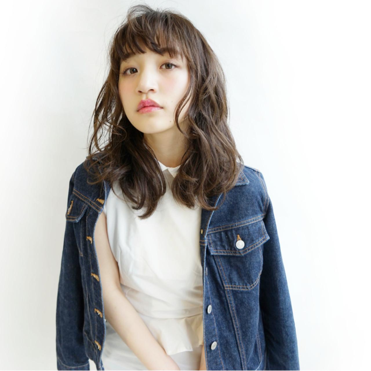 ミディアム ブラウン レイヤーカット ストリート ヘアスタイルや髪型の写真・画像 | 石田 裕人 / AFLOAT NAGOYA
