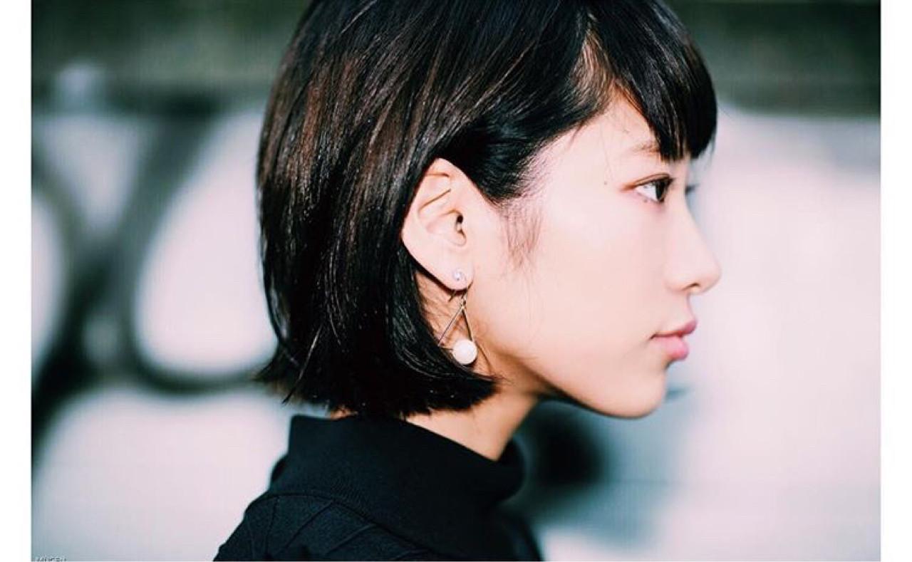 ナチュラル ショート リラックス ガーリー ヘアスタイルや髪型の写真・画像 | Karin /
