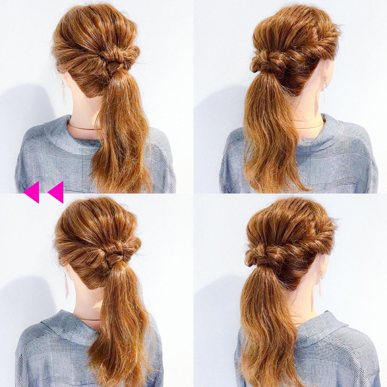 簡単ヘアアレンジ アウトドア オフィス ヘアアレンジ ヘアスタイルや髪型の写真・画像 | 美容師HIRO/Amoute代表 / Amoute/アムティ