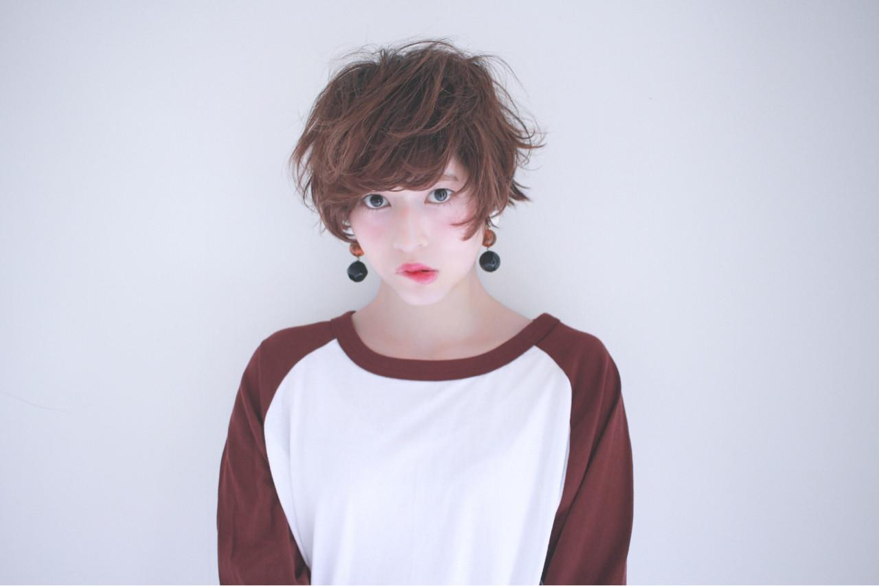 ゆるふわ 小顔 ショート フェミニン ヘアスタイルや髪型の写真・画像 | えなちぃ /