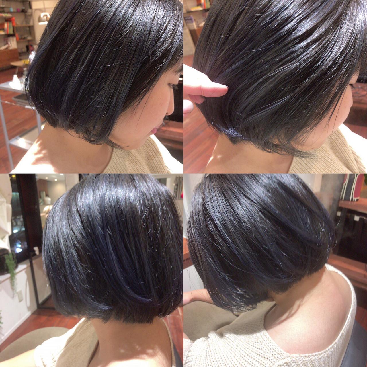 アッシュ 外国人風 グラデーションカラー 暗髪 ヘアスタイルや髪型の写真・画像   藤山将太 / ROSTAR