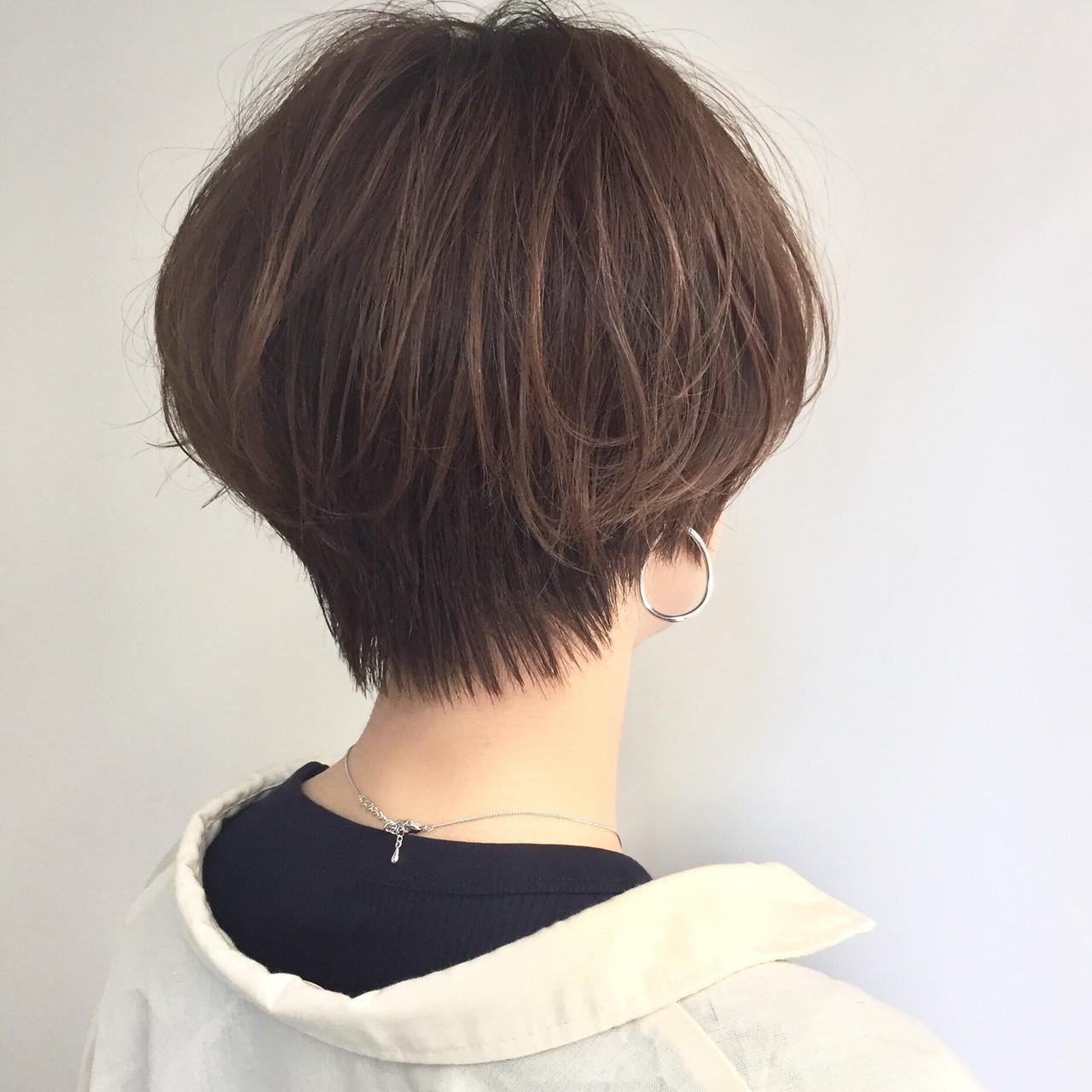 ナチュラル 前下がりショート ショートバング ショートヘア ヘアスタイルや髪型の写真・画像 | 【ショート&ショートボブはお任せください】淺川聖 / parc sapporo