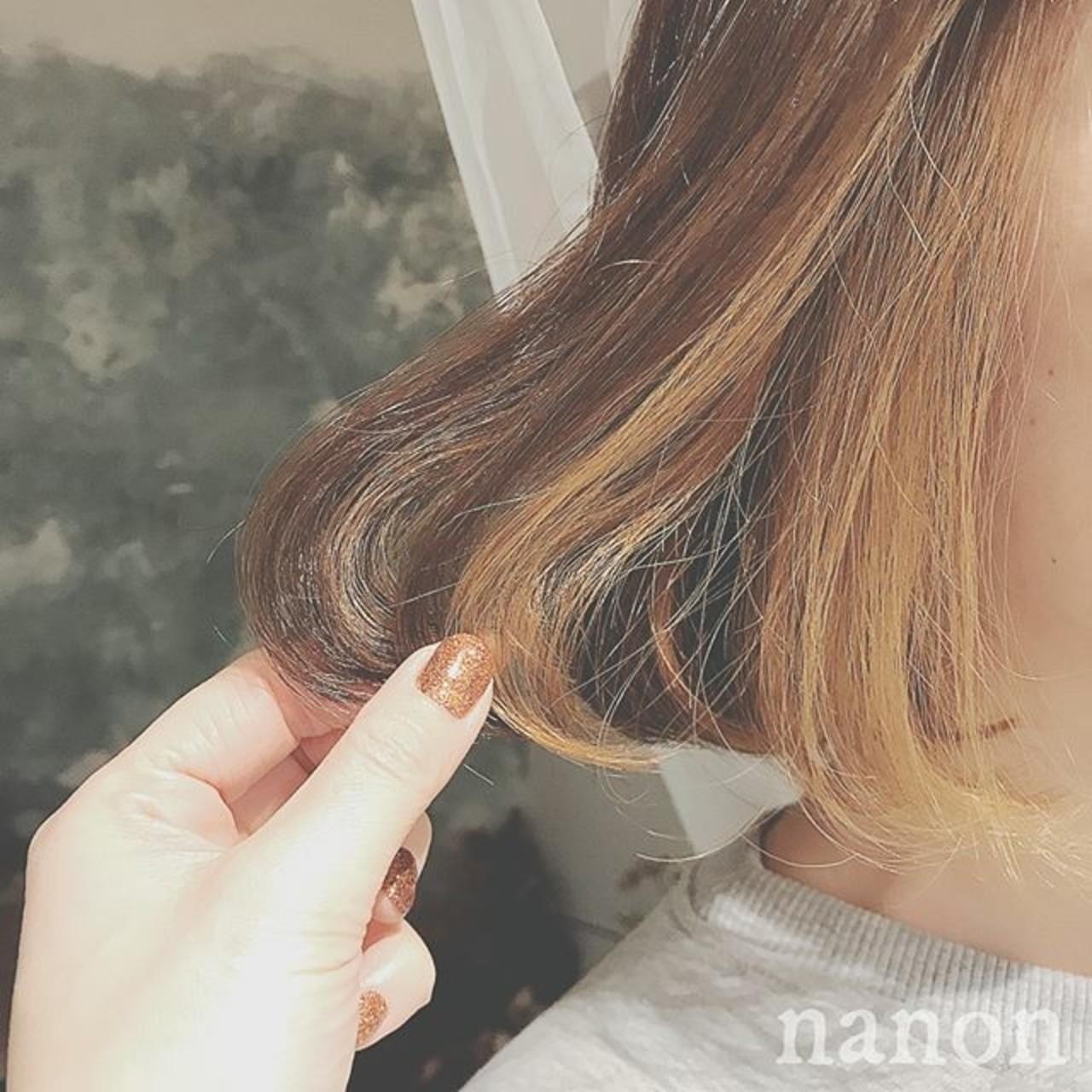 大人かわいい フェミニン ボブ 冬 ヘアスタイルや髪型の写真・画像 | 浦川由起江 / nanon