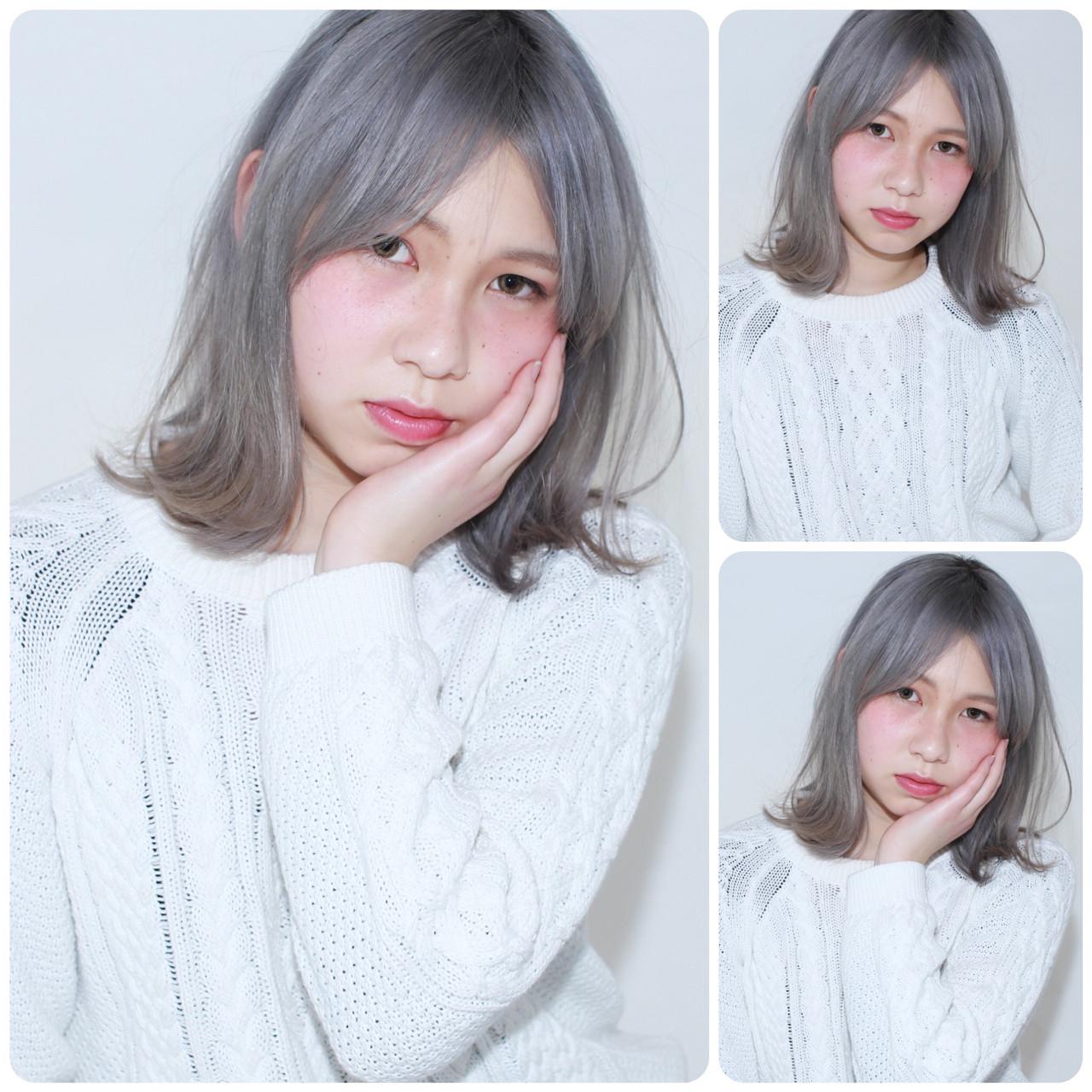 旬ヘアカラーなら外国人風「ホワイトアッシュ」♪ブリーチなしOKな髪色♡ イマムラ スナオ
