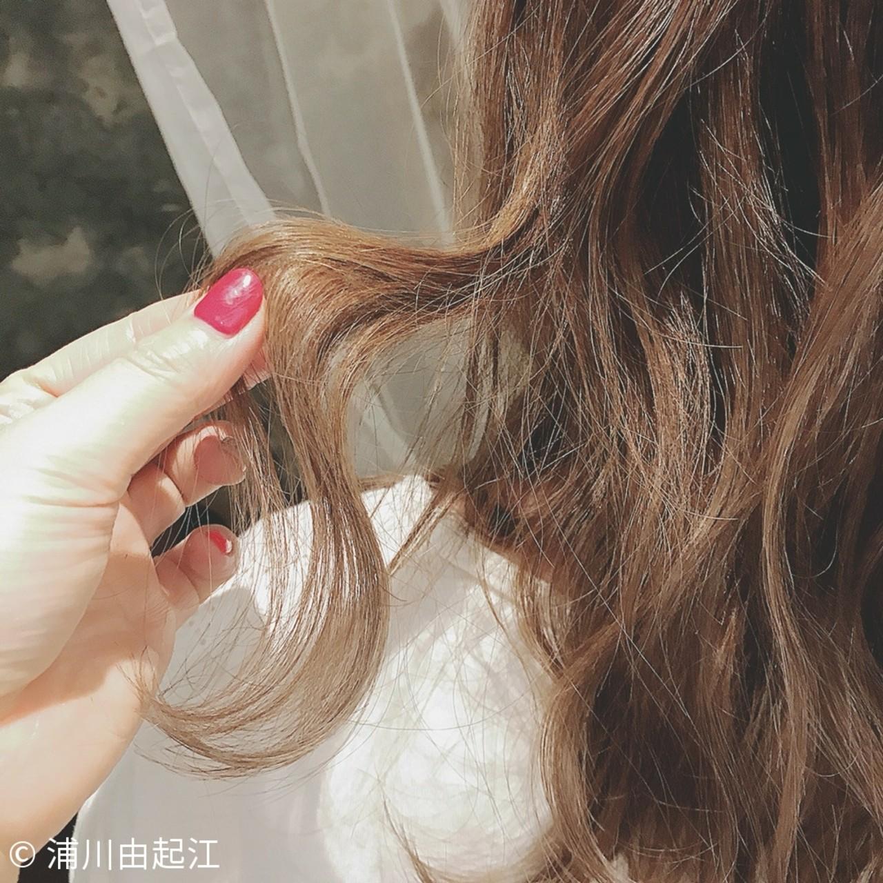 ゆるふわ パーティ ナチュラル ロング ヘアスタイルや髪型の写真・画像 | 浦川由起江 / nanon