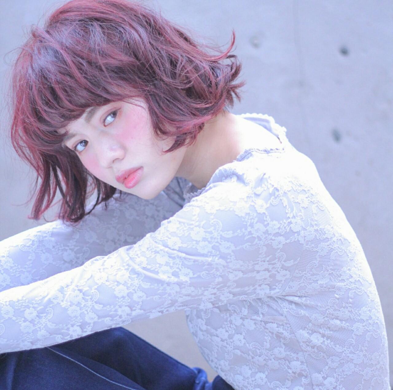 サンゴ系カラーに癒されて。Coral(コーラル)色で幸せたっぷりな髪に♡ Wataru Maeda / cache cache