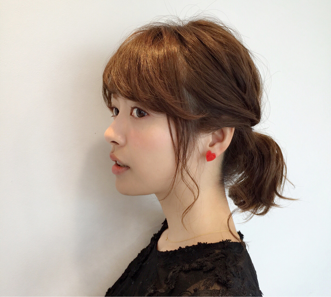 ヘアアレンジ デート ナチュラル 前髪あり ヘアスタイルや髪型の写真・画像 | 薬袋 光 / KIKKAKE@depth