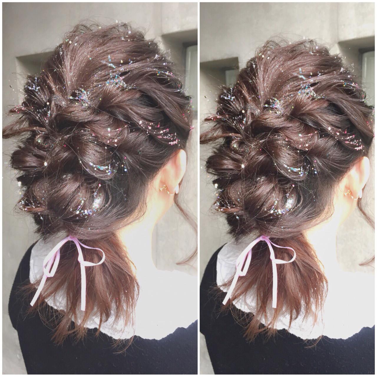 ヘアアレンジ ガーリー ミディアム フェミニン ヘアスタイルや髪型の写真・画像 | MOTAI / Wille / Wille