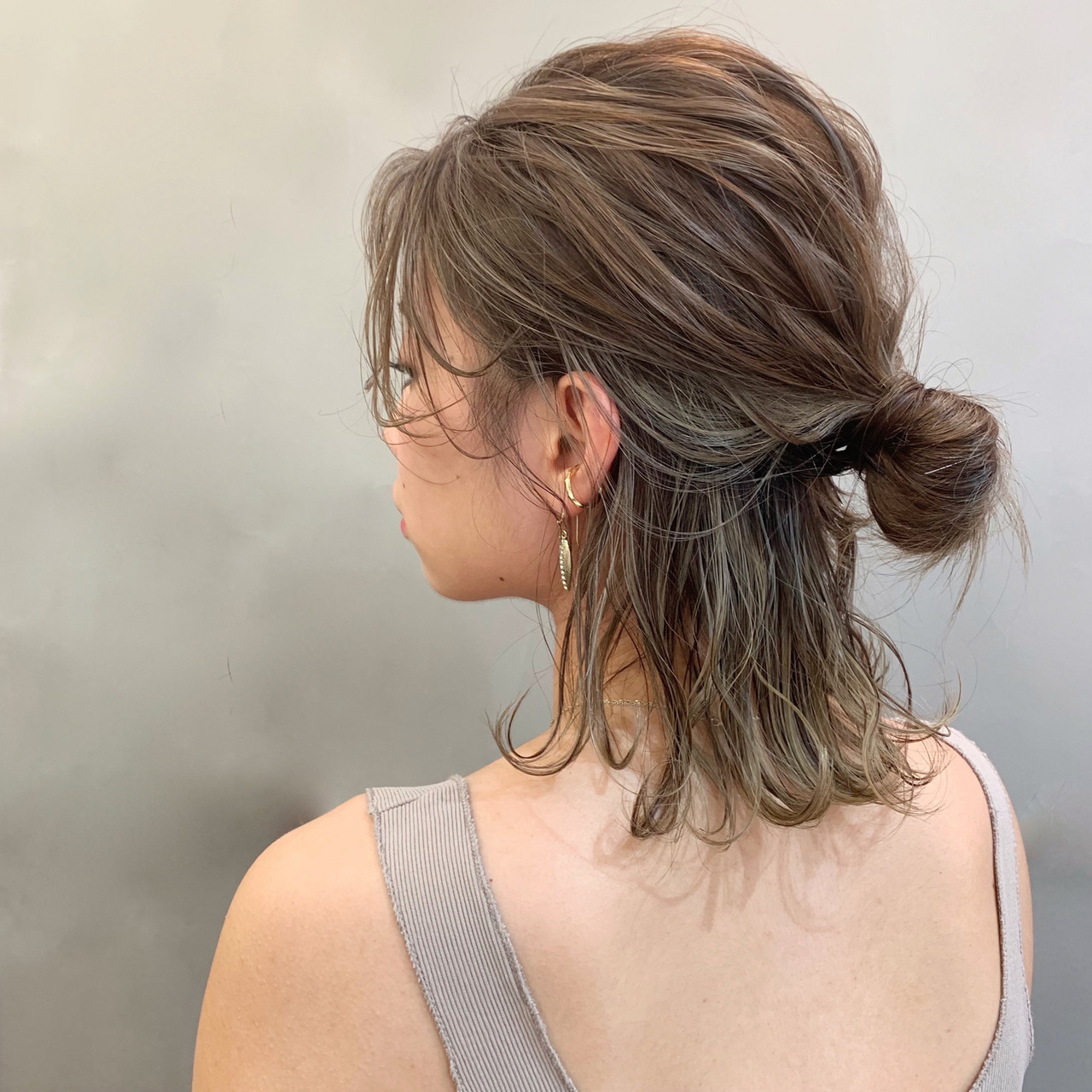 ミディアム スポーツ ヘアアレンジ デート ヘアスタイルや髪型の写真・画像 | 安永怜 / kakimotoarms田園調布