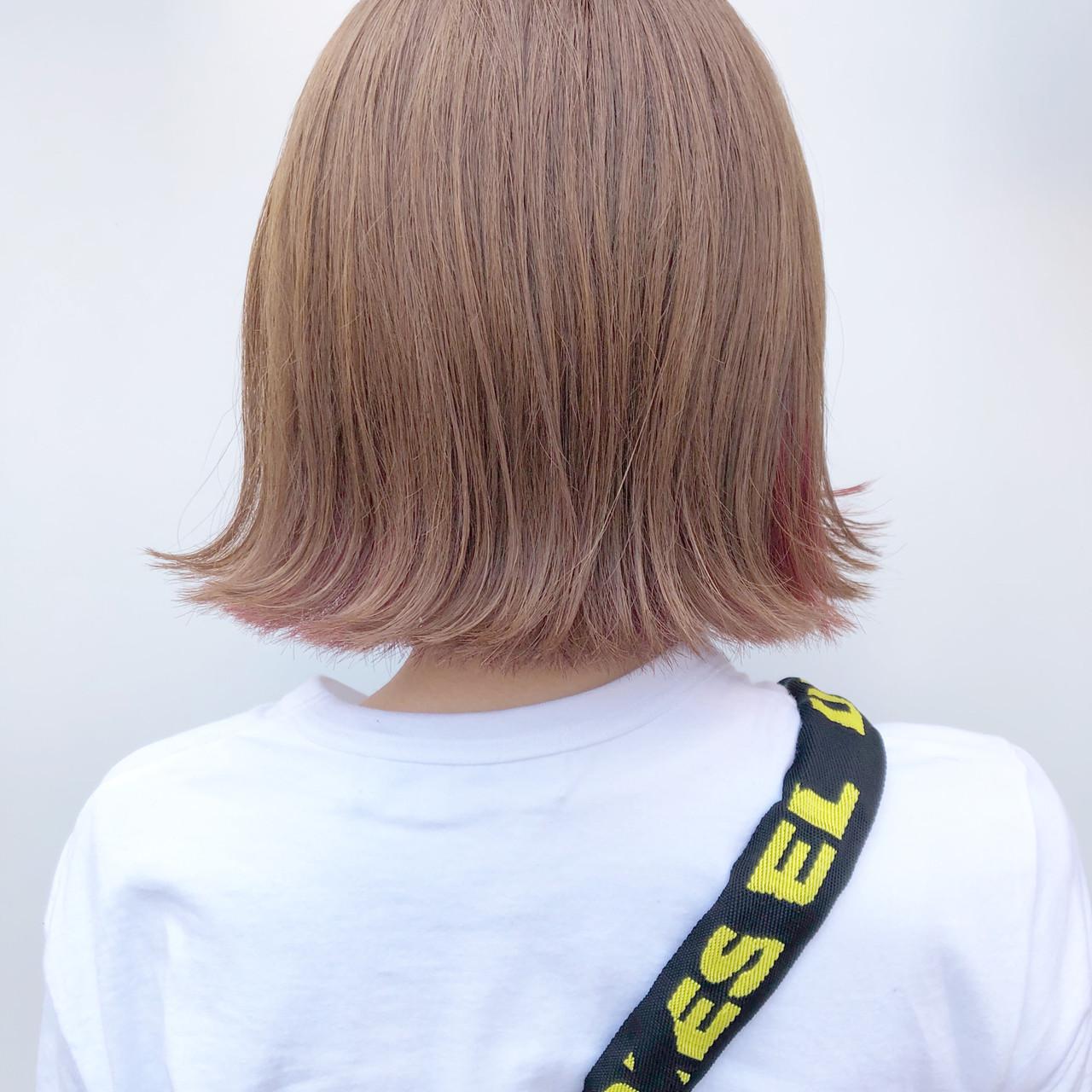 ミルクティーベージュ ミルクティーブラウン ガーリー ベリーピンク ヘアスタイルや髪型の写真・画像 | MAYUKA / G∀ME by AlanSumithee