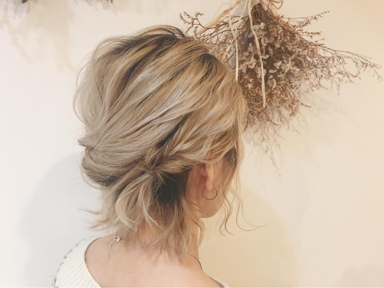 くるりんぱ 成人式 ナチュラル 簡単ヘアアレンジヘアスタイルや髪型の写真・画像