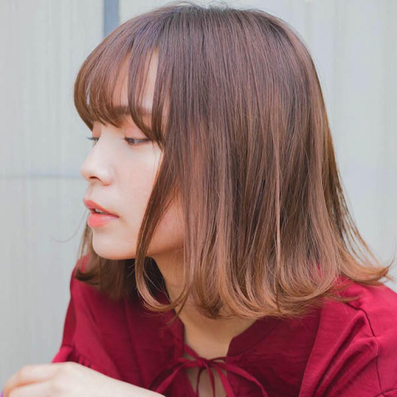 ナチュラル 大人かわいい 前髪あり デート ヘアスタイルや髪型の写真・画像 | 竹澤 優/relian青山Top stylist / relian青山