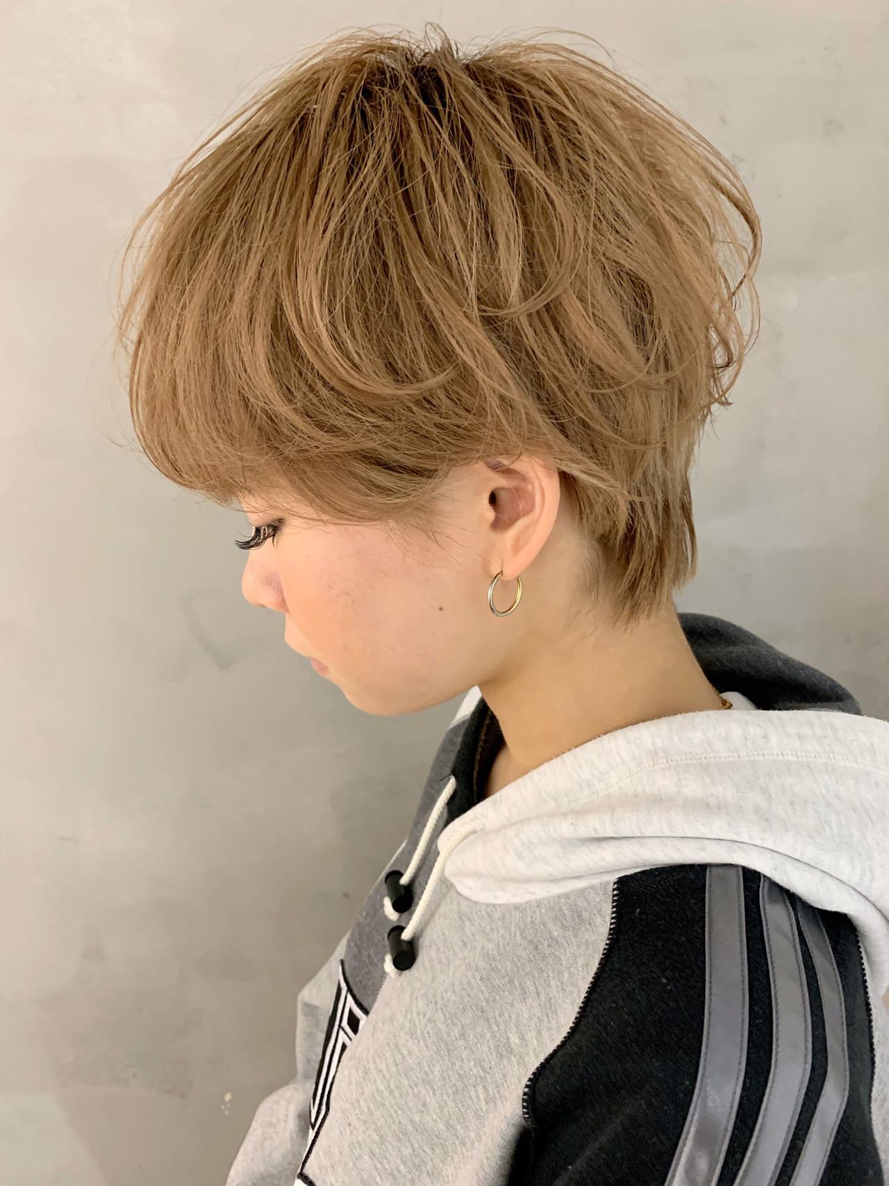 ショートボブ ショート ショートヘア アンニュイほつれヘアヘアスタイルや髪型の写真・画像