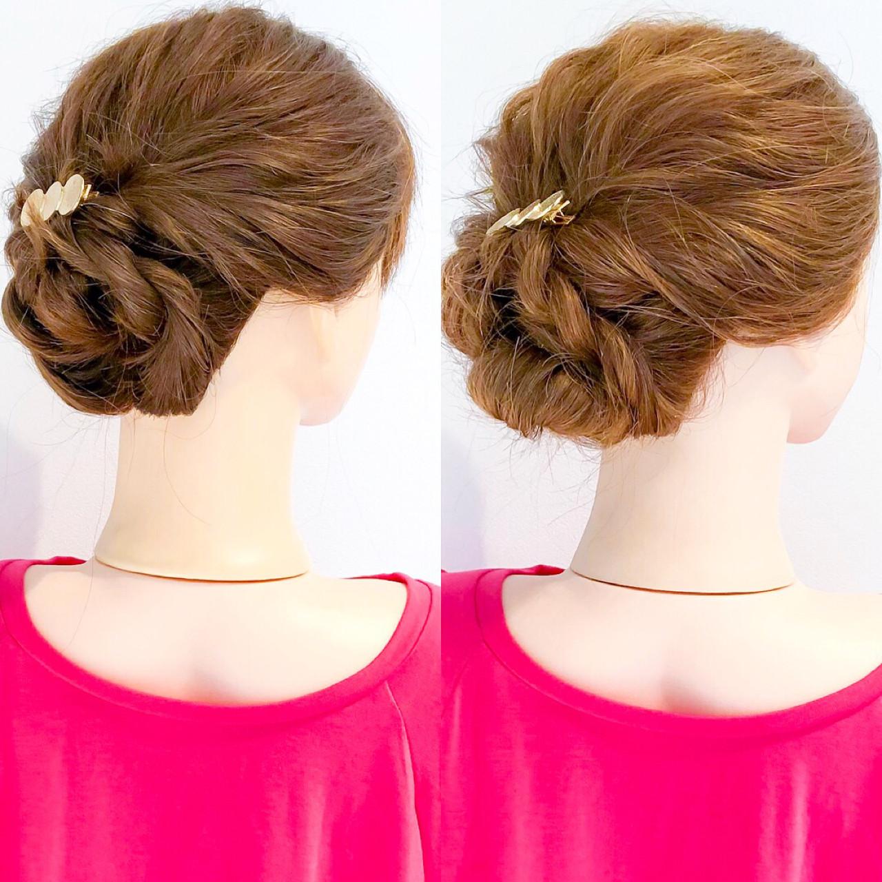 上品 エレガント ロング ヘアアレンジ ヘアスタイルや髪型の写真・画像 | 美容師HIRO/Amoute代表 / Amoute/アムティ