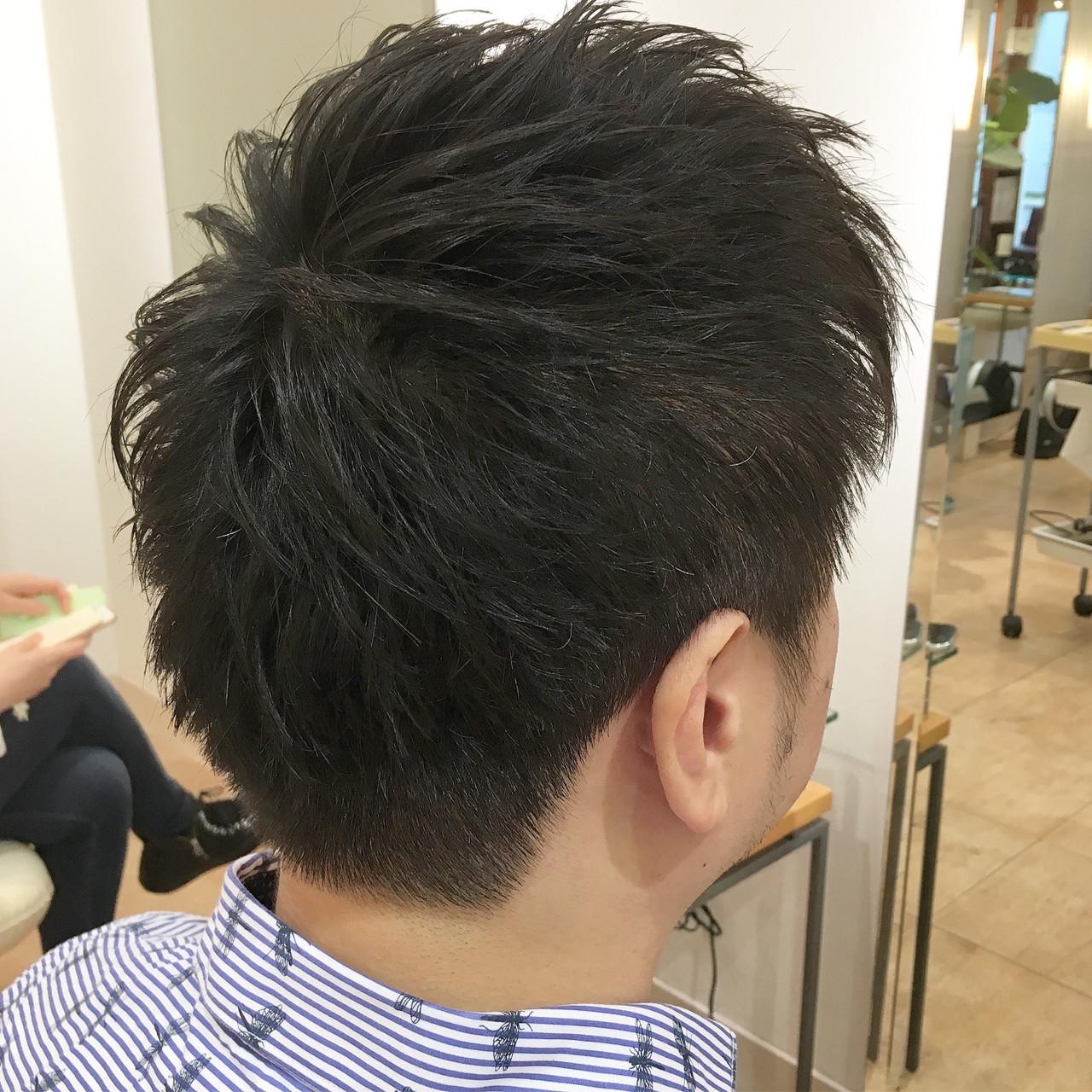 黒髪 ショート ストリート ツーブロック ヘアスタイルや髪型の写真・画像 | 平本 詠一 / fabris