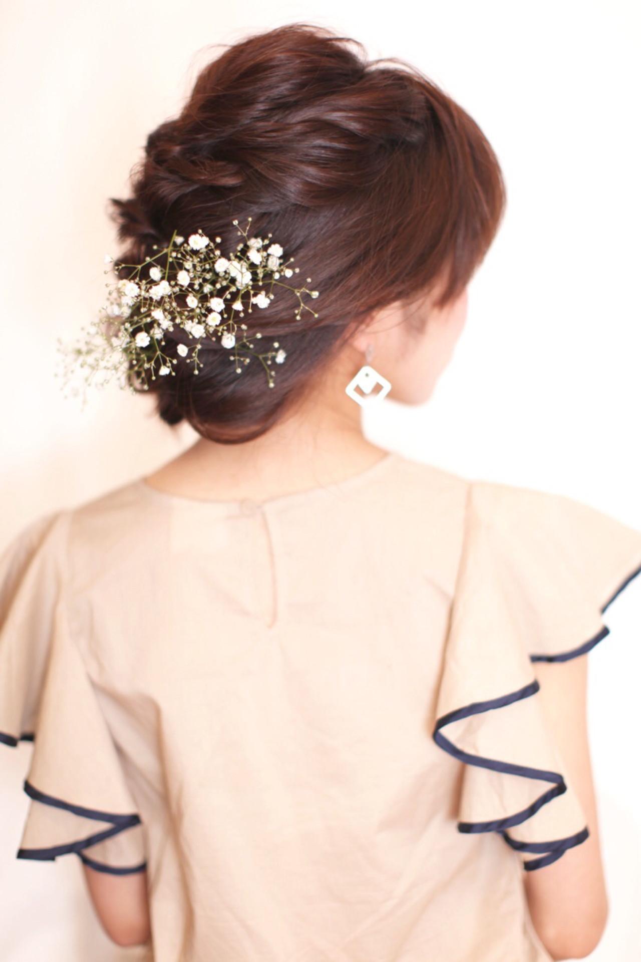 ショート 大人かわいい セミロング ヘアアレンジ ヘアスタイルや髪型の写真・画像 | noda asako / Lily