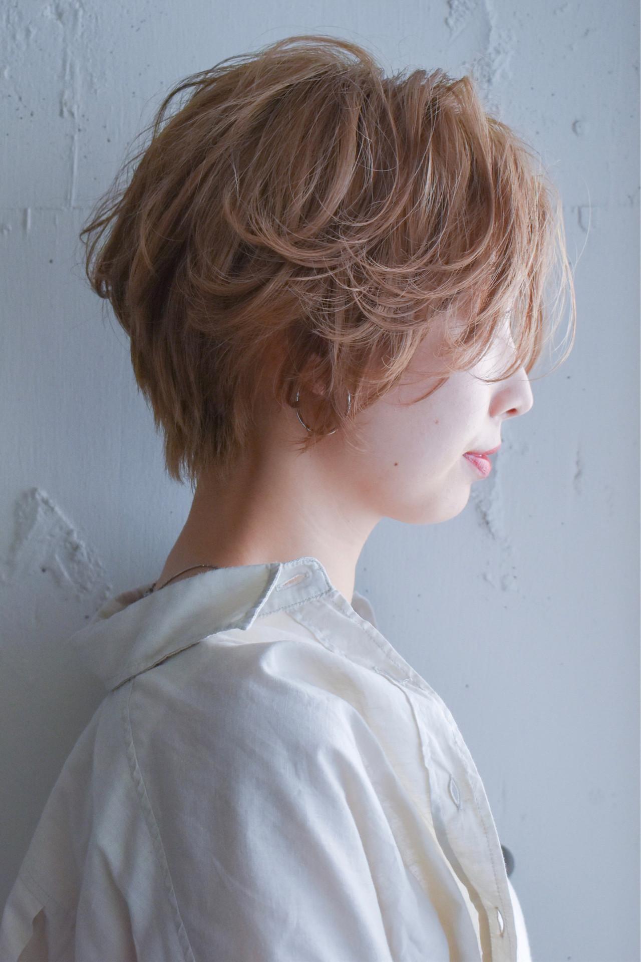 ひし形シルエット ナチュラル パーマ ショート ヘアスタイルや髪型の写真・画像 | 金子颯汰/ kyli表参道 / kyli表参道
