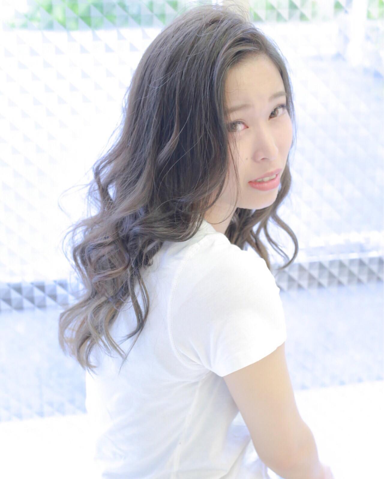 大人かわいい ミント インナーカラー ロング ヘアスタイルや髪型の写真・画像 | 伊藤 裕貴 / LOAOL上小田井店