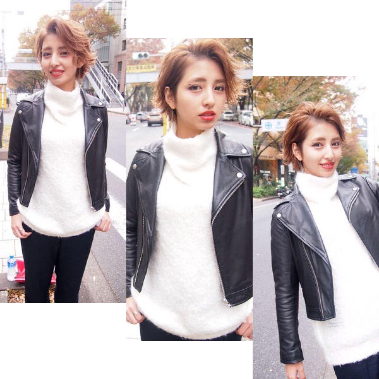 ジェンダーレス女子は中性的な髪型が決め手♡テイスト別にスタイル紹介! Rie Akita
