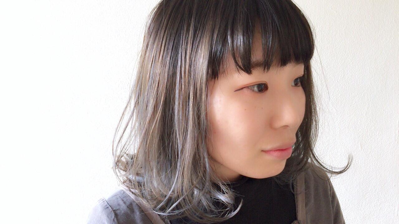 ボブ アンニュイほつれヘア 外国人風カラー ブルージュヘアスタイルや髪型の写真・画像