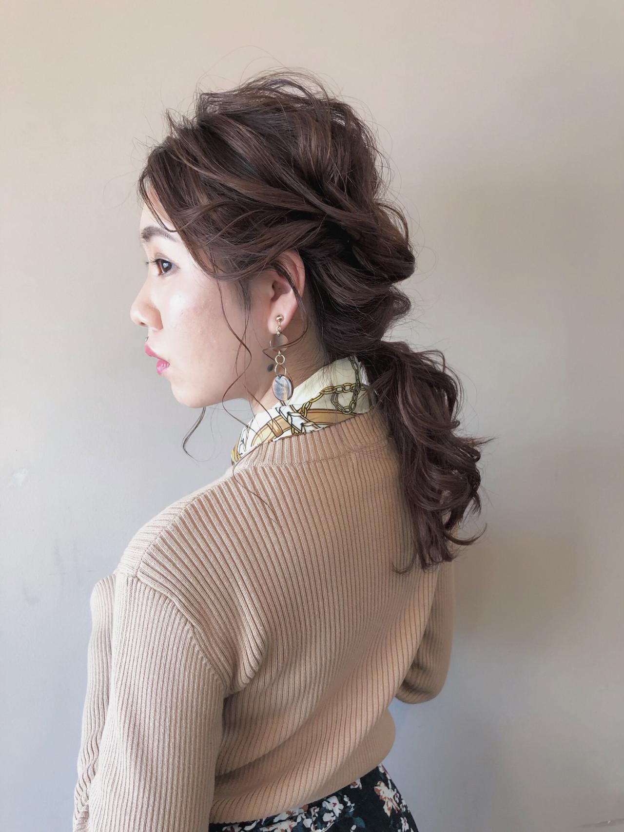 ナチュラル 結婚式 簡単ヘアアレンジ オフィス ヘアスタイルや髪型の写真・画像 | 北里和哉 / far beyond