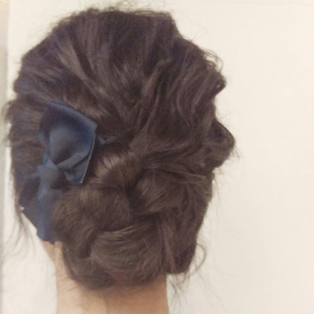 セミロング 簡単ヘアアレンジ ナチュラル アッシュ ヘアスタイルや髪型の写真・画像 | 吉村夏美 / RavoHAIR