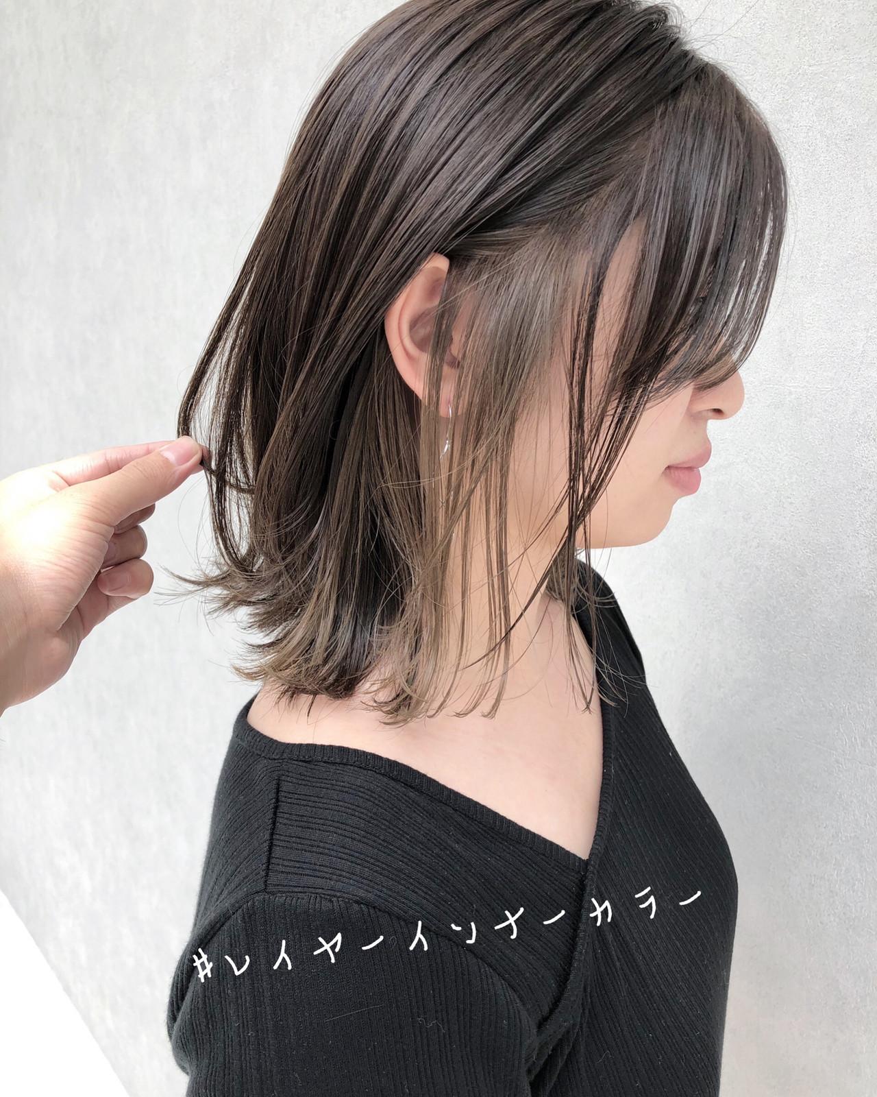 ナチュラル ミディアム インナーカラー ウルフカット ヘアスタイルや髪型の写真・画像 | 北村 亮 / Lano by HAIR
