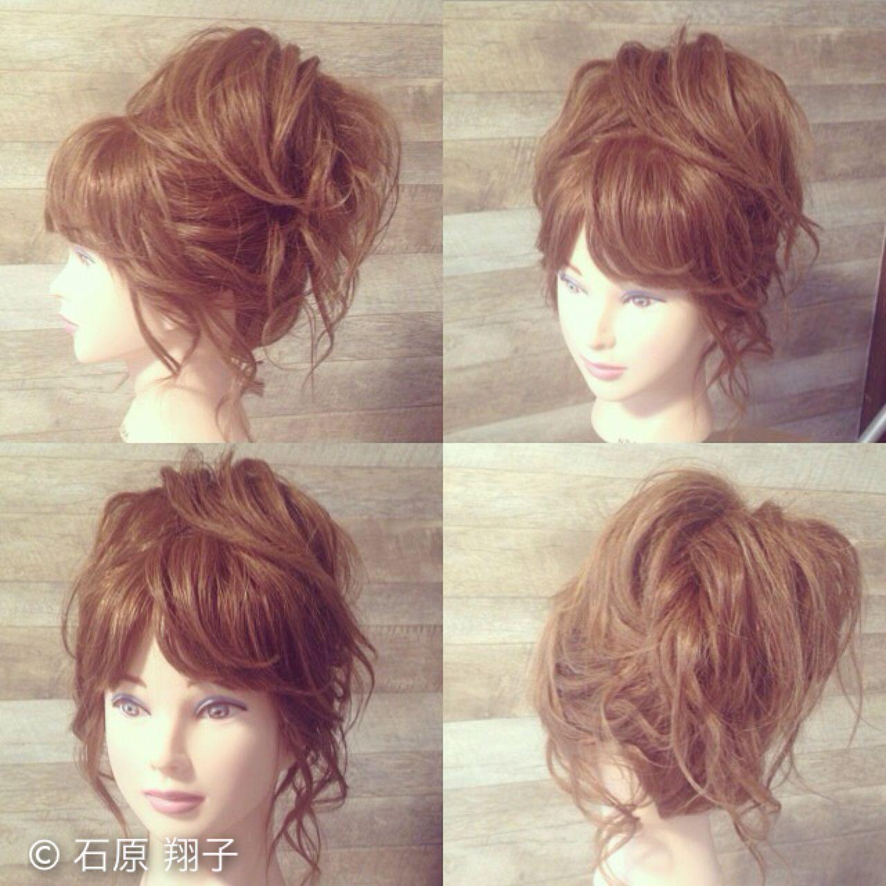 パーティ アップスタイル ヘアアレンジ ロング ヘアスタイルや髪型の写真・画像   石原 翔子 / S.O.L/GLITTER