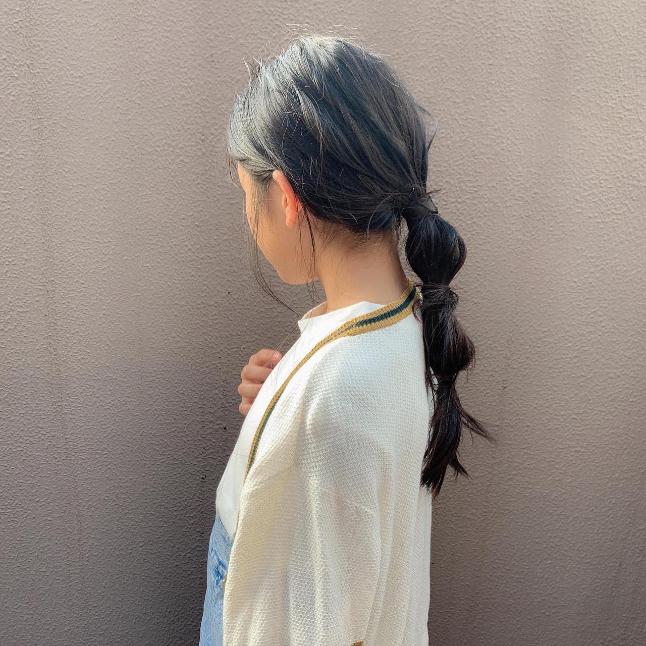 子供 簡単 キッズ ナチュラルヘアスタイルや髪型の写真・画像