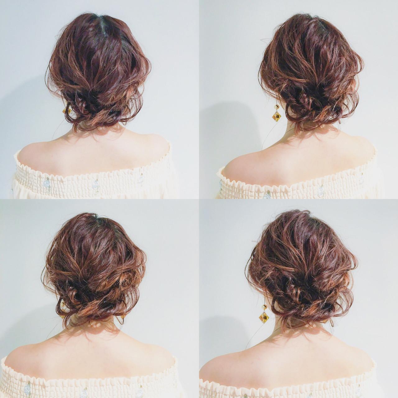ナチュラル ヘアアレンジ ふんわり ミディアムヘアスタイルや髪型の写真・画像