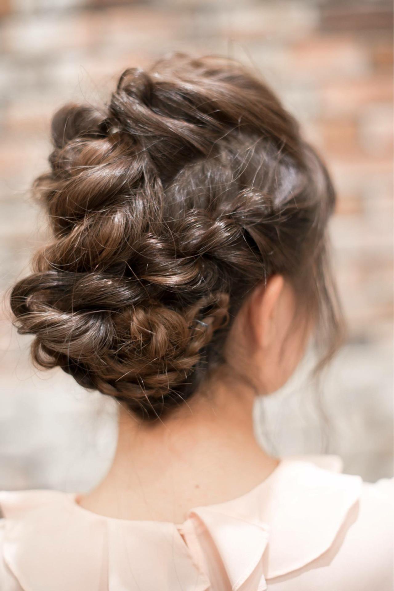 フェミニン セミロング ヘアアレンジ 簡単ヘアアレンジ ヘアスタイルや髪型の写真・画像 | 森 康治 / kiito / kiito