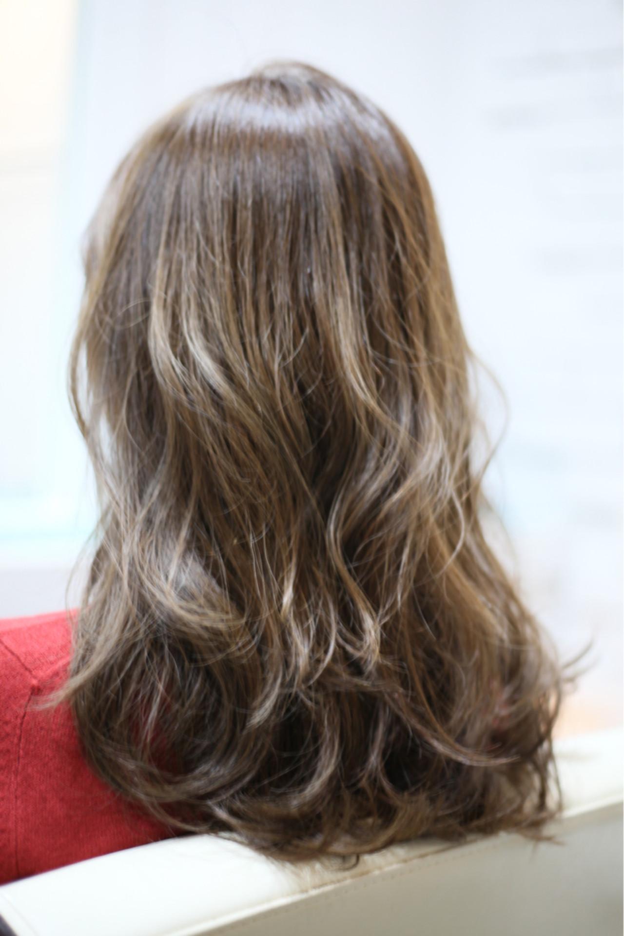グラデーションカラー セミロング ゆるふわ ガーリー ヘアスタイルや髪型の写真・画像 | kentaman® / PEACE HAKATA