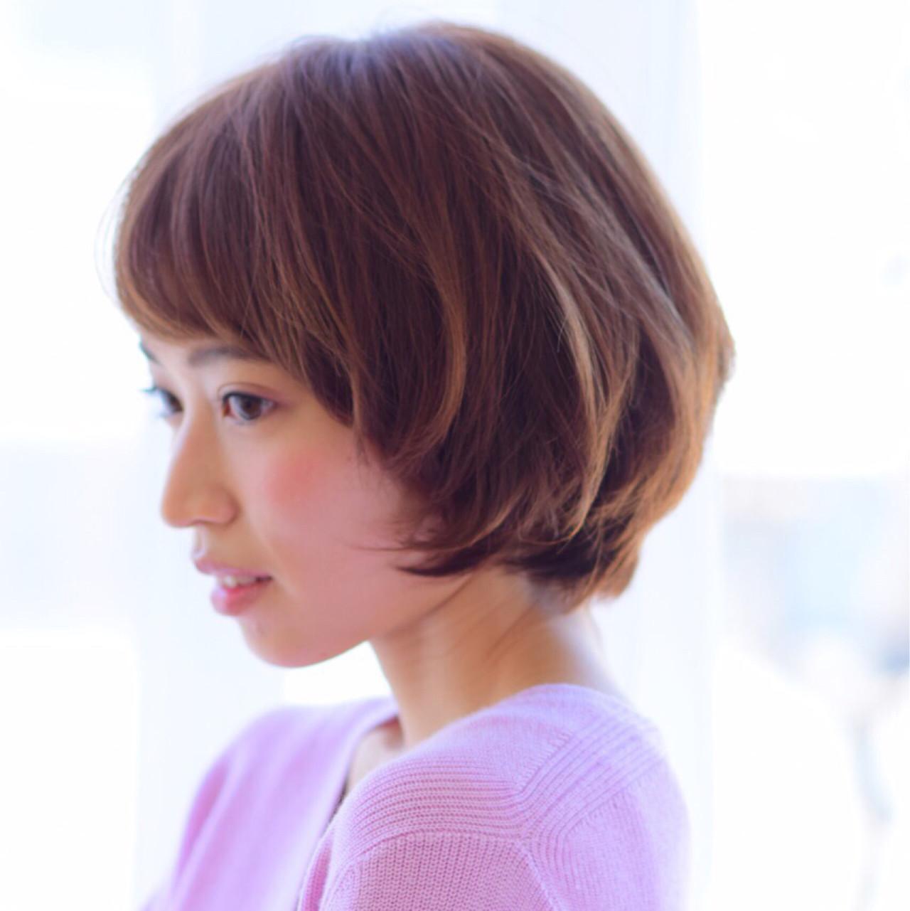 ショート ボブ 艶髪 小顔 ヘアスタイルや髪型の写真・画像 | 吉田直人 / tricca balcony hayama