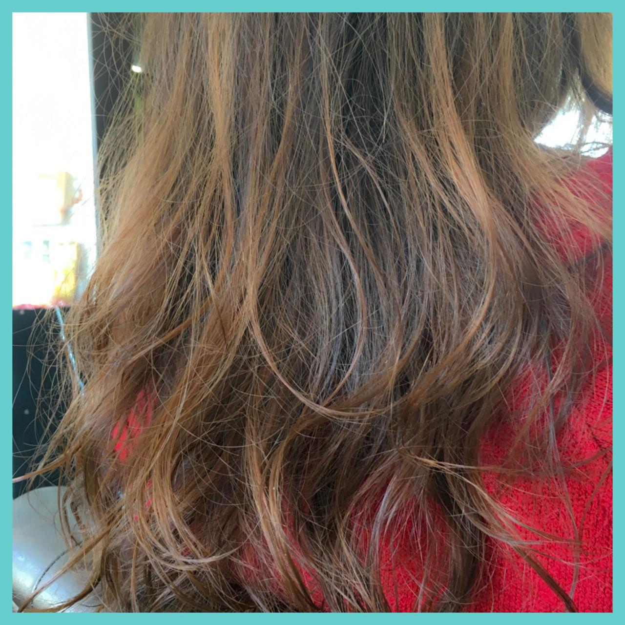 パーマ ゆるふわ ナチュラル セミロング ヘアスタイルや髪型の写真・画像   中村真一 / hair make No.8 宮崎市