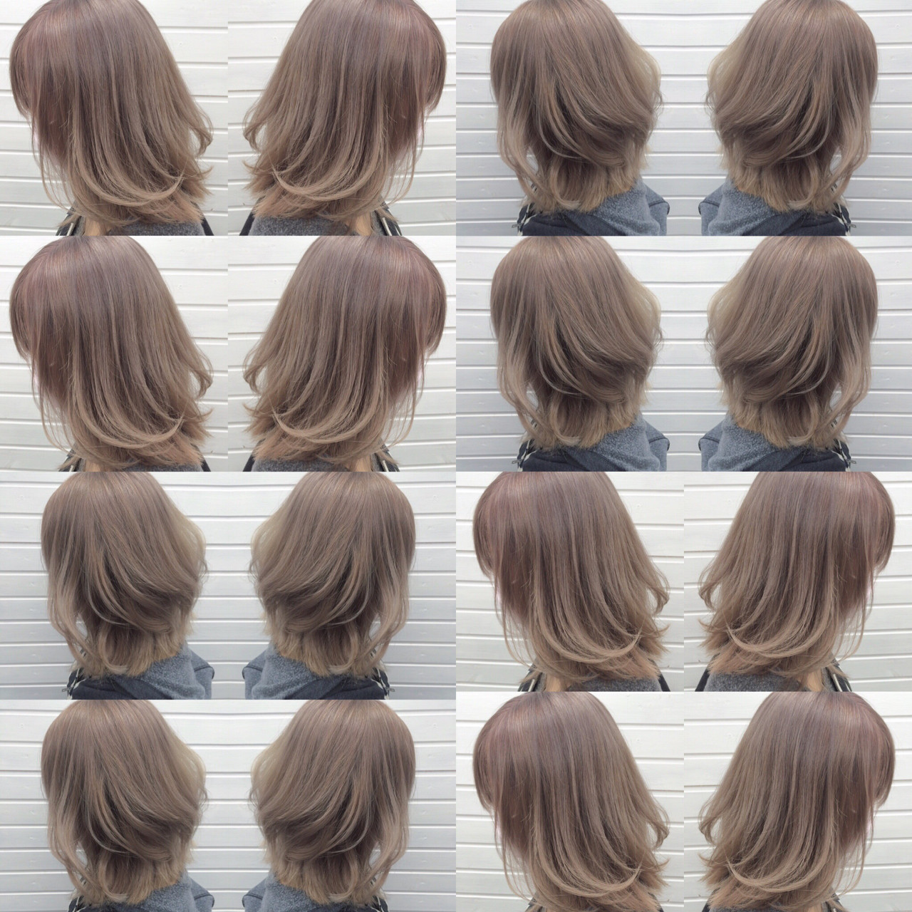ミディアム ブリーチ パープル ラベンダーアッシュ ヘアスタイルや髪型の写真・画像   universe / hairspaceuniverse