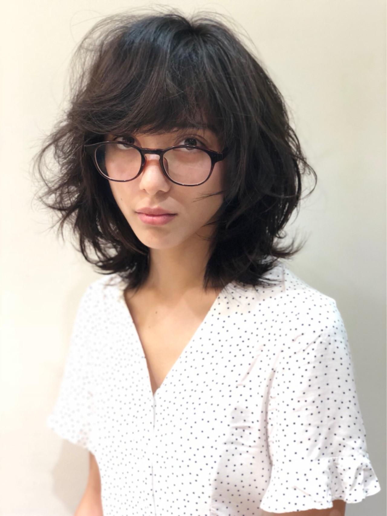 ハイライト ガーリー ミディアム ヘアアレンジヘアスタイルや髪型の写真・画像