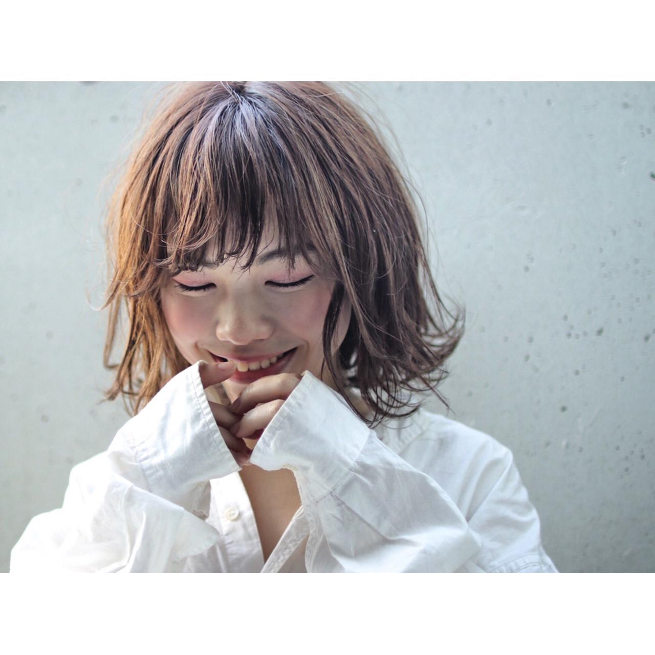 ミディアム 色気 ボブ 前髪あり ヘアスタイルや髪型の写真・画像 | 鈴木 祐一郎 / ZENKO 吉祥寺 Chere