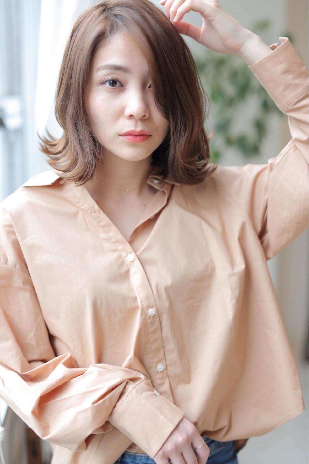 外国人風カラー 簡単ヘアアレンジ ボブ 外国人風 ヘアスタイルや髪型の写真・画像 | もりゆか /