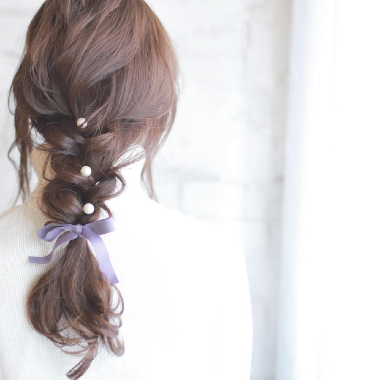 大人かわいい ロング ヘアアレンジ ショート ヘアスタイルや髪型の写真・画像 | 廣田哲也 / nalu hair