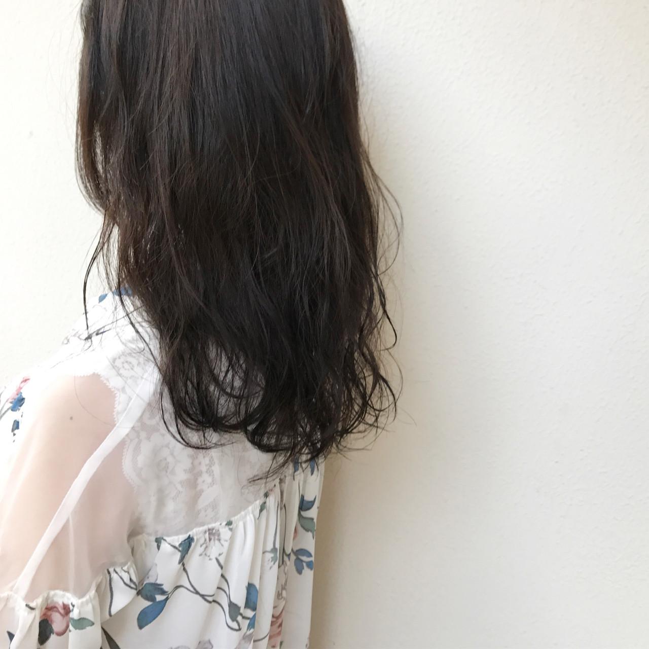 ナチュラル ロング ヘアアレンジ 透明感 ヘアスタイルや髪型の写真・画像 | 國崎 裕 / WEC hair